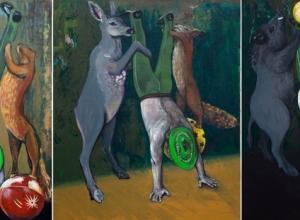 Greenhorn  triptych  120x100cm